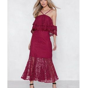 Nasty gal Without a Lace Maxi Dress new
